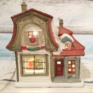 Vintage Christmas Village Victorian Colonial House